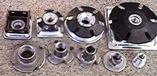 "Nickel Plated Adjustable Foot Insert for 1-1//4/"" Square Tubing /& 18 GA 16 GA"